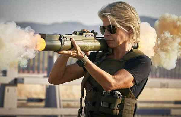 Linda Hamilton in 'Terminator: Dark Fate' (Kerry Brown/Paramount Pictures via AP)