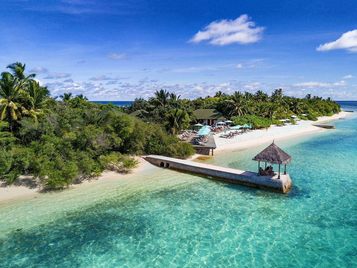 In pics: A dream island getaway to the diver's paradise of OBLU by Atmosphere at Helengeli, Maldives. An aerial view of Helen's View at Helengeli Island, Maldives.