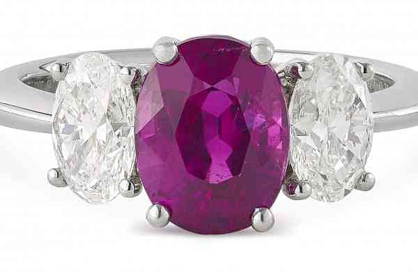 Burmese Ruby and Diamond Ring, Estimate INR 48 - 55 Lakh (USD 68,575 - 78,575)