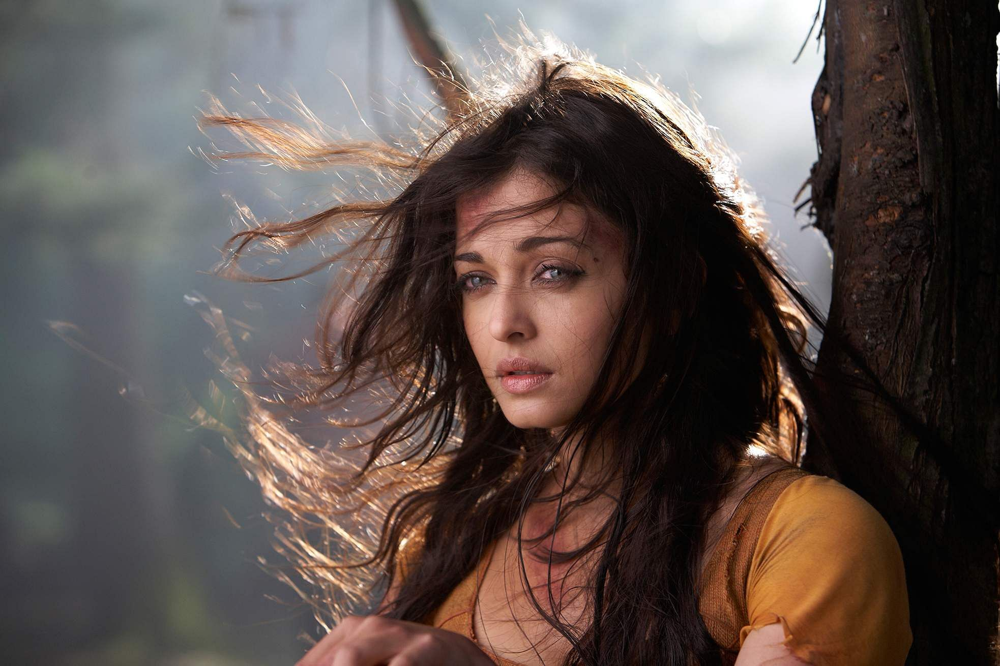 Aishwarya Rai in Mani Ratnam's  epic action-adventure Raavanan
