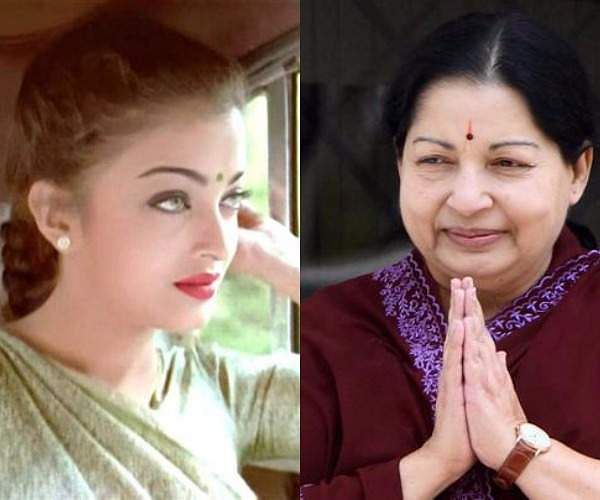 4Aishwarya Rai playing Jayalalitha in  Tamil epic political drama Iruvar