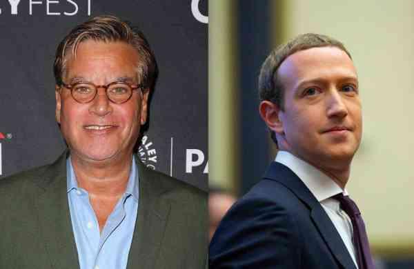 Aaron Sorkin and Mark Zuckerberg