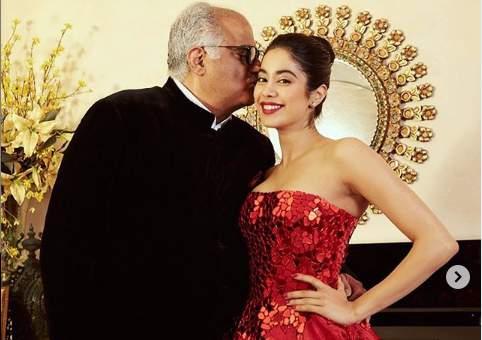 Boney Kapoor and Janhvi Kapoor