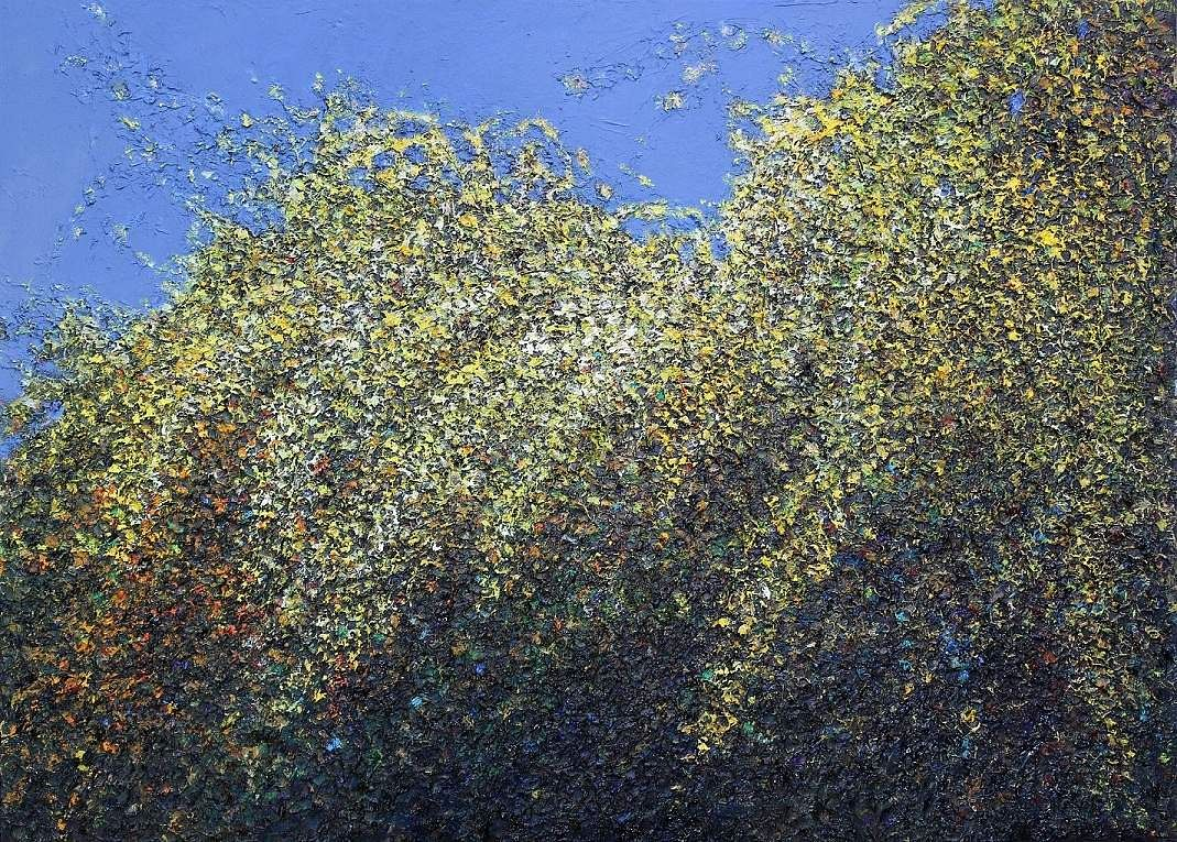 'Last Spring 9' by Kim, Jinsook at the exhibition Healing Strokes at InKo Centre, Chennai.