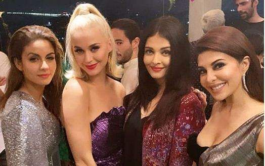 Katy Perry with Bollywood celebrities