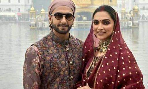 Ranveer and Deepika at Golden Temple