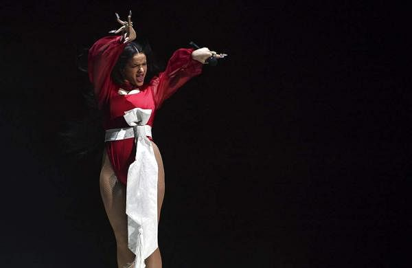 Rosalia performs a medley at the 20th Latin Grammy Awards (AP Photo/Chris Pizzello)
