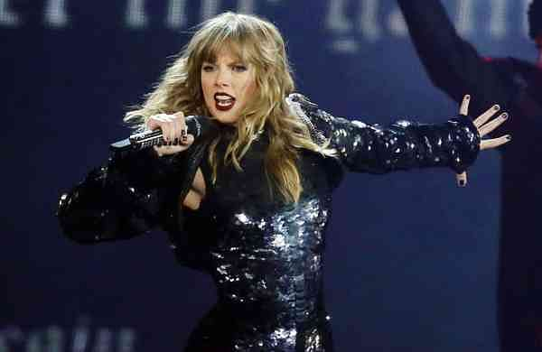 Taylor Swift performing during her 'Reputation Stadium Tour' opener in Glendale, Arizona (Photo by Rick Scuteri/Invision/AP, File)