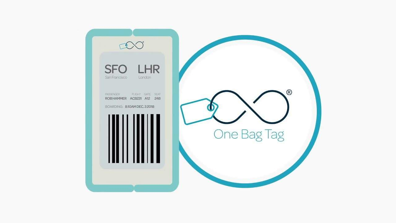 One Bag Tag: An unbreakable, battery-free device, can be re-used indefinitely. Syncs with airline apps to display barcodes for your next trip. E-ink display, works with global airlines. Coming 2020.