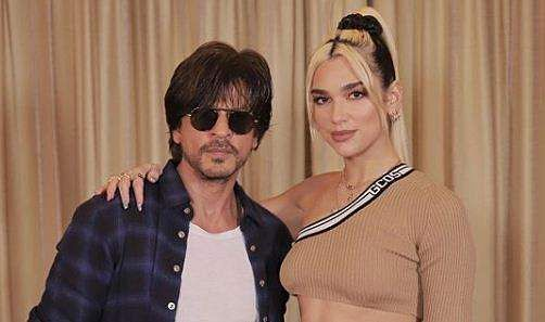 Shah Rukh Khan with Dua Lipa