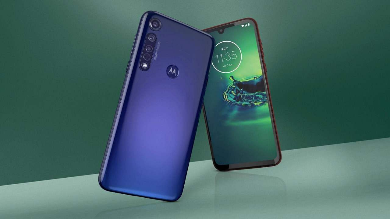 """Moto G8 Plus: Motorola's latest is an all-rounder with 4 rear cams including an ultra-wide action cam and a 48MP main sensor. The 6.3"""" FHD+ display is ideal for movies and gaming. INR 13,999."""