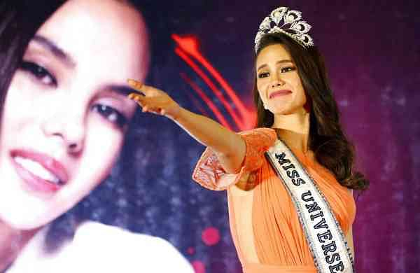 Miss Universe 2018 Catriona Gray at a homecoming event in suburban Quezon city, northeast of Manila, Philippines (AP Photo/Bullit Marquez, File)