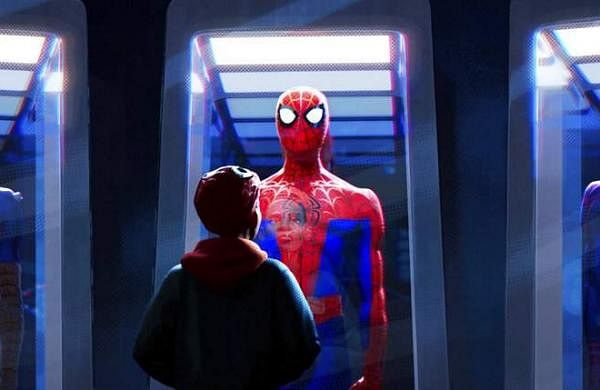AP19305780812559This image released by Sony Pictures Animations shows a scene from Spider-Man: Into the Spider-Verse. (Sony Pictures Animation via AP)