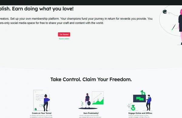 A screenshot of the Gigsy app
