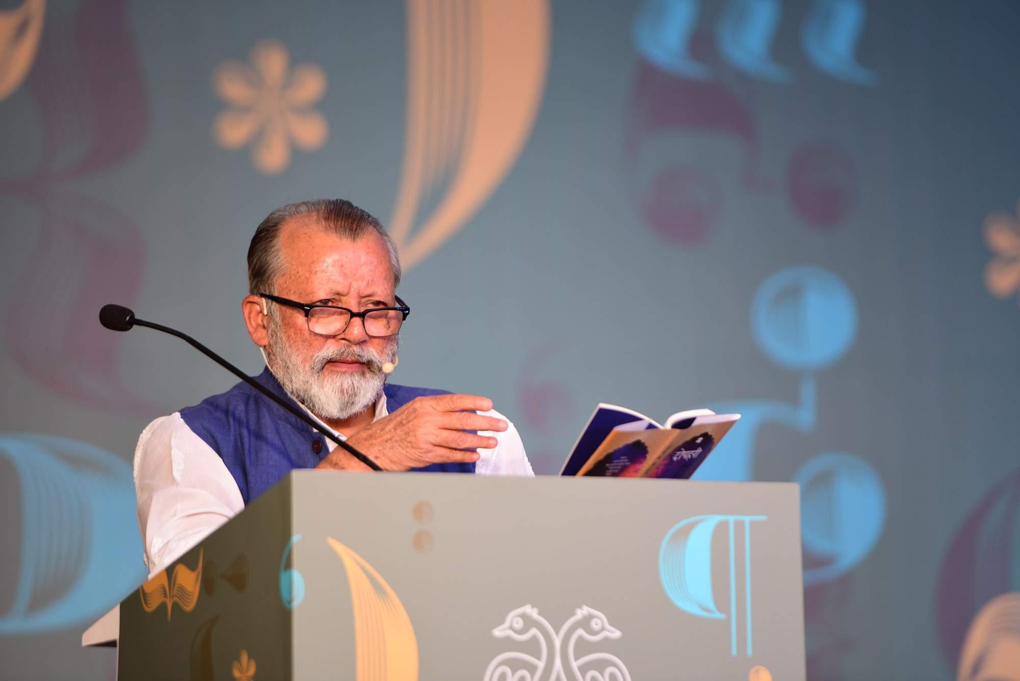 Pankaj Kapur reads from Dopehri at the Bangalore Literature Festival