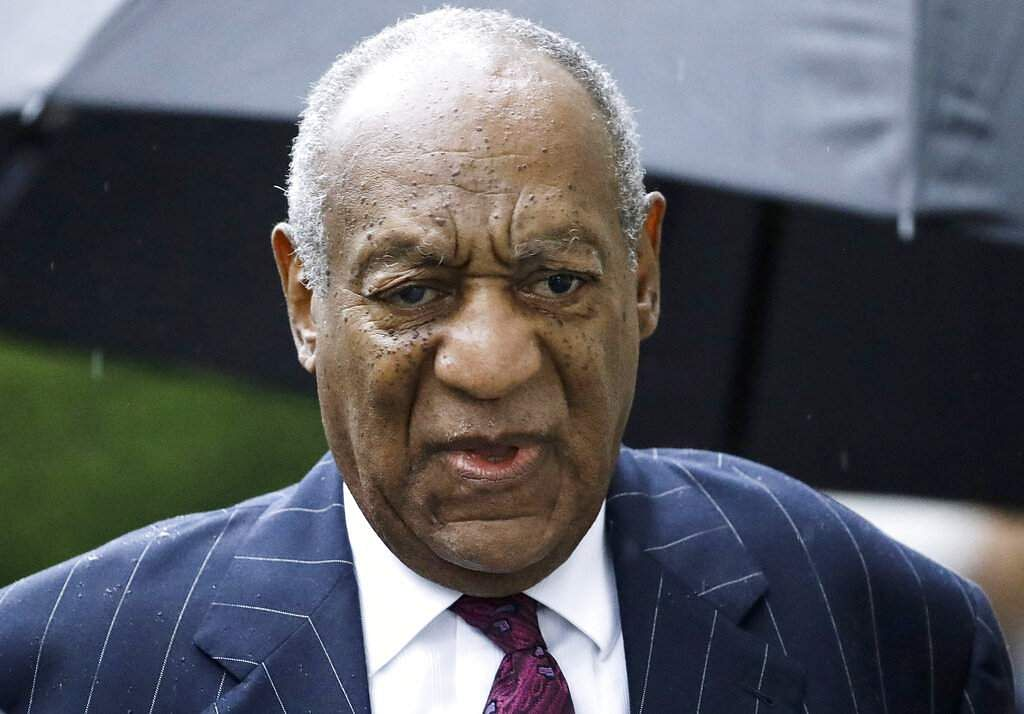 Bill Cosby arrives for a sentencing hearing following his sexual assault conviction at the Montgomery County Courthouse  (AP Photo/Matt Rourke, File)