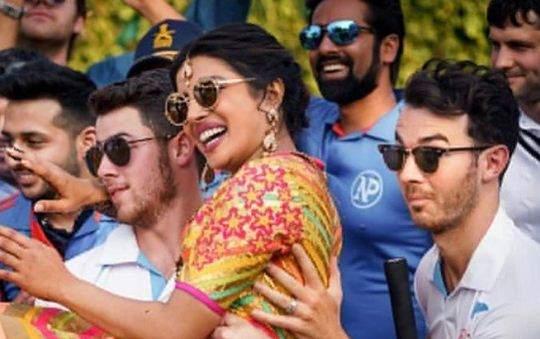 Priyanka, Nick and Kevin Jonas