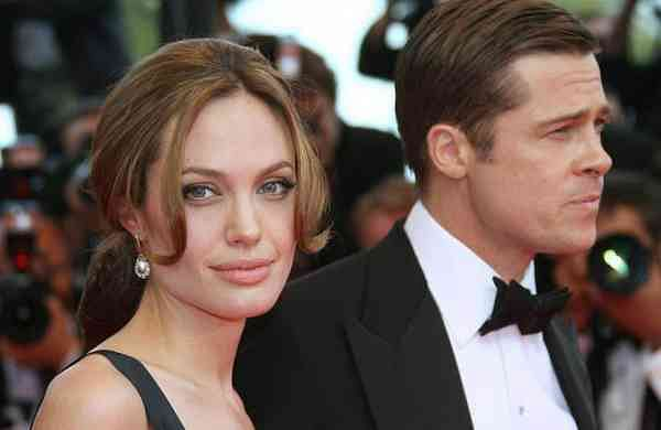Actress Angelina Jolie and Brad Pitt