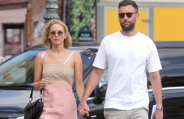 Actress Jennifer Lawrence and her husband, art dealer Cooke Maroney
