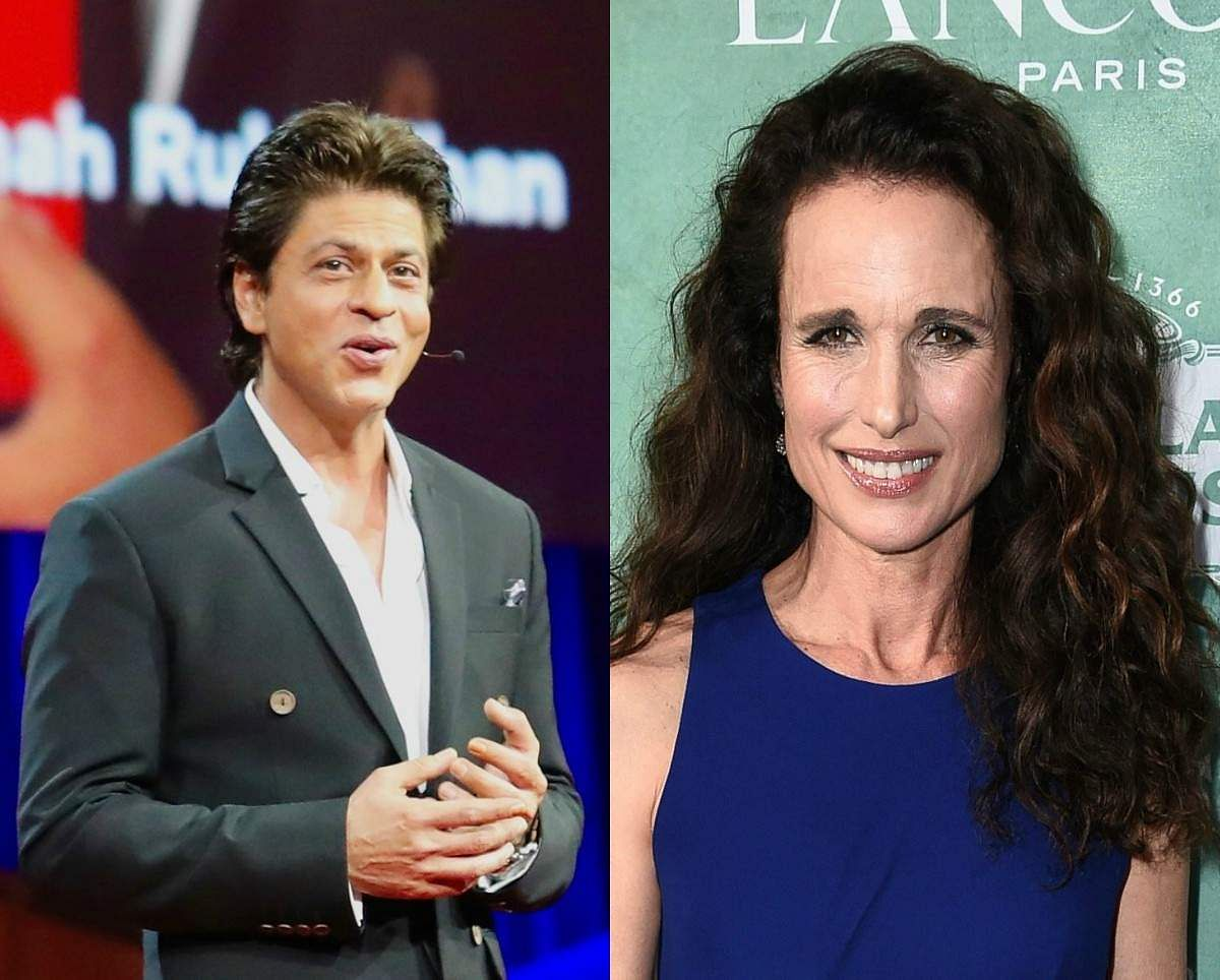 SRK and Andie MacDowell