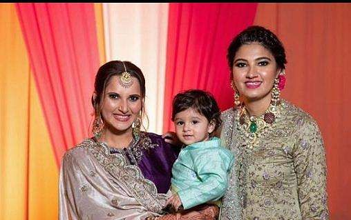 Sania Mirza with son and sister Anam