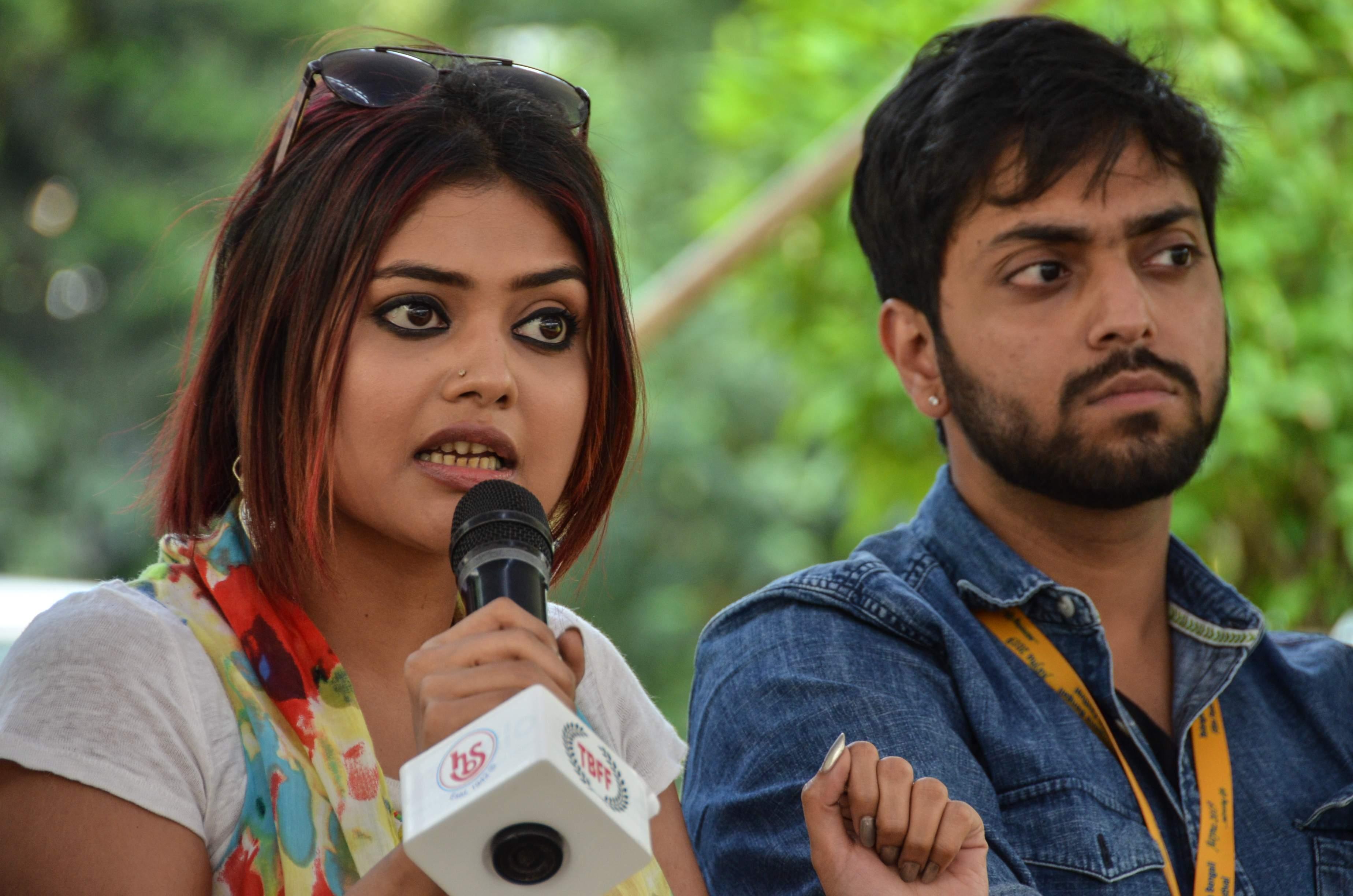 Saayoni Ghosh and Anubhav Kanjilal at Telangana Bangali Film Festival