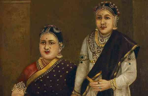 A painting by Raja Ravi Varma (detail)