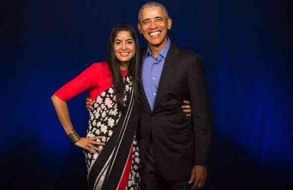 Anisha with Barack Obama (Photo: IANS)