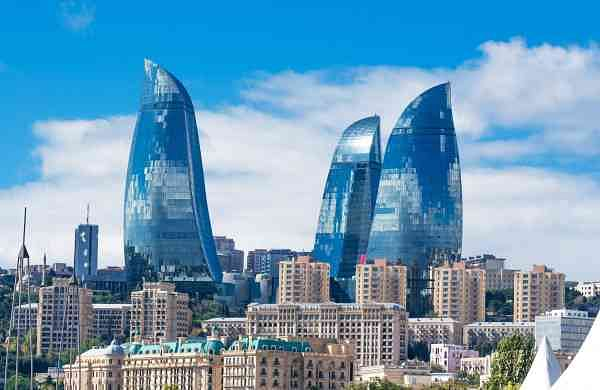 Flame Towers in Baku, Azerbaijan