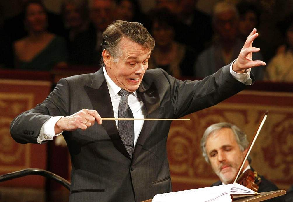 Latvian conductor Mariss Jansons (AP Photo/Ronald Zak)