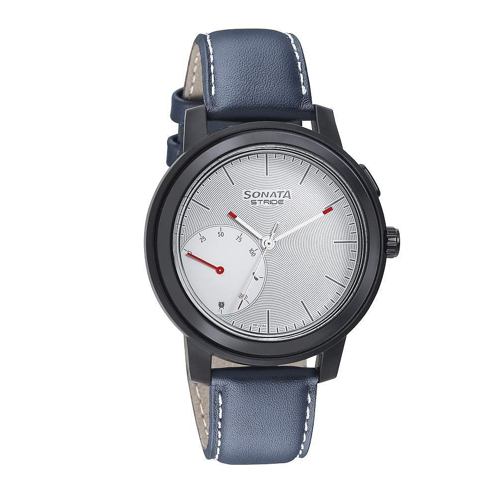 Sonata Stride Pro: Smart capabilities include steps, sleep, call alerts, sedentary alerts, calorie tracker, camera control. Connected watch looks fine, comes with 1-year battery life. INR 3,495.