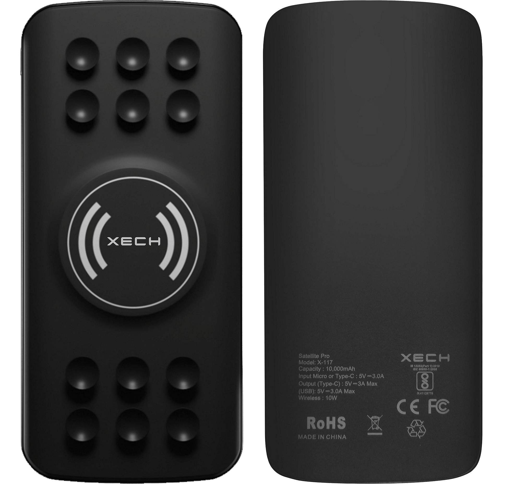 Gadget Review: Xech Satellite Pro. 10000mAh wireless charger, works upto 10w wireless, supports USB C PD upto 18w charging for iPhone and QC 3.0 with 3A charging for Android. INR 3,899.