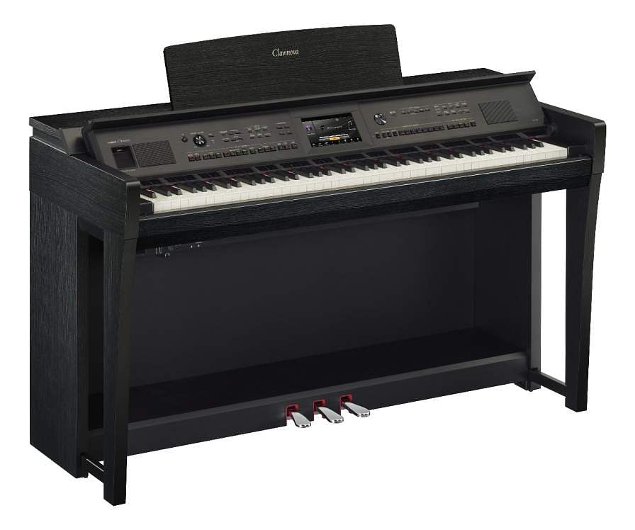 Yamaha CVP 805: A new digital piano with a Grand Touch keyboard. The 88-Key 'Clavinova Versatile Piano' features the Genos Sound engine, built-in Bluetooth and TFT colour LCD. INR 3.76 lakh.