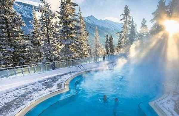 Banff, Canada - hot springs in winter