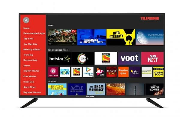 Gadget Review: Telefunken 49 inch 4K, an HDR TV in a smart package. Quick sign in to streaming sites, connects to Android & iOS devices. A 49-inch 4K TV at a great price-point. INR 26,999.