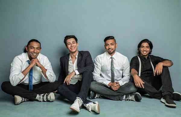 Akaash, the band (L-R) - Ritesh Dharmaraj, Akash Kumar, Jitesh Dharmaraj & Vijay Krishnan