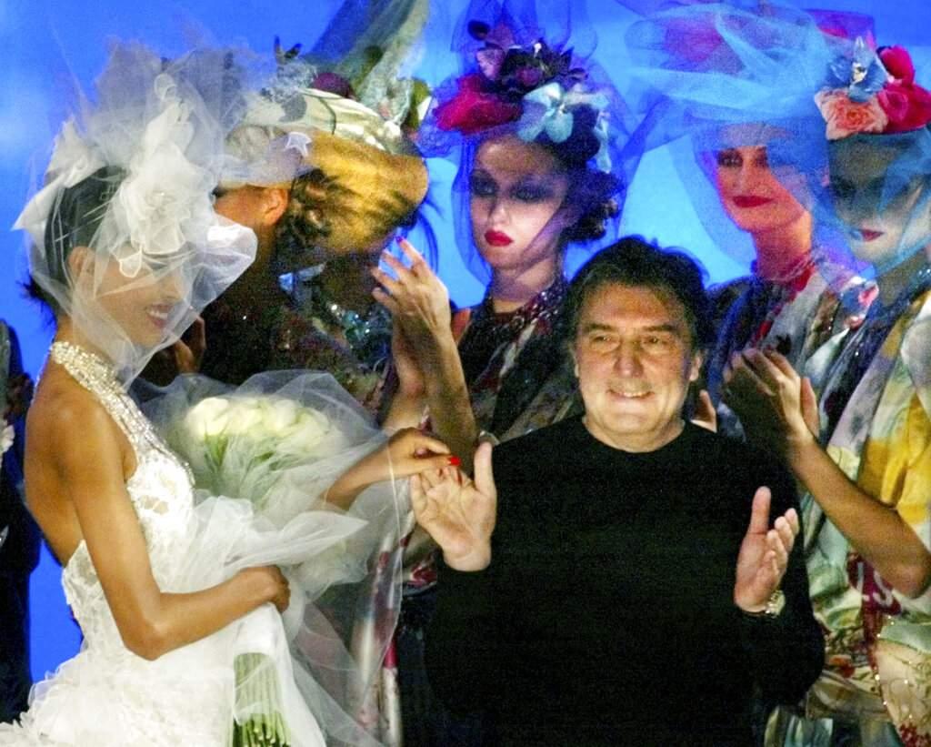 2003 file photo: French fashion designer Emanuel Ungaro (AP Photo/Laurent Rebours)