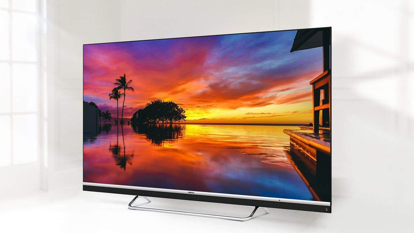 Nokia Smart TV: A 55-inch, UHD (4K) TV with sound by JBL. Powered by Android, stacked with features. Dolby Audio + DTS, intelligent dimming and wide colour gamut. Chromecast built-in. INR 41,999.