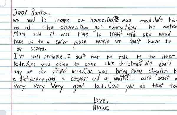 A letter by a child to Santa (Photo: IANS)
