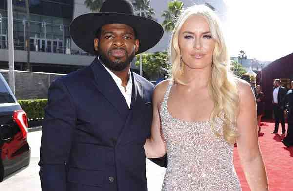 PK Subban and Lindsey Vonn (Photo by Richard Shotwell/Invision/AP)