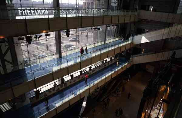Guests visit the Newseum in Washington (AP Photo/Jacquelyn Martin)