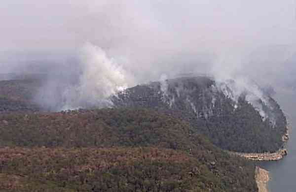 Wildfires in the Blue Mountains, New South Wales, Australia (Australian Broadcasting Corporation via AP)