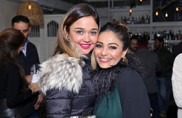 Delhi's glitterati make a memorable evening at Martini soirée hosted by Archana Vijaya at Serai by Olive. In pic: Stuti Dixit and Kalyani Saha Chawla.