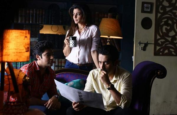 Gaurav, Koel and Parambrata in Sagardwipey Jawker Dhan