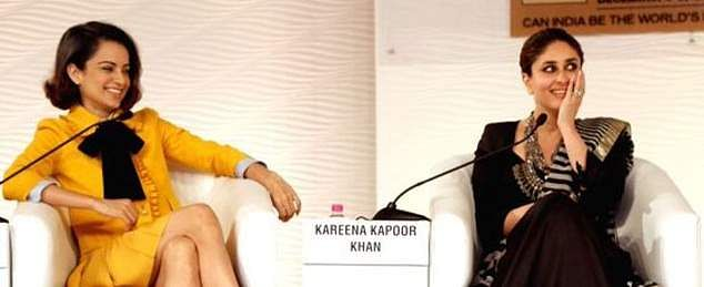 Kangana Ranaut and Kareena Kapoor at the event