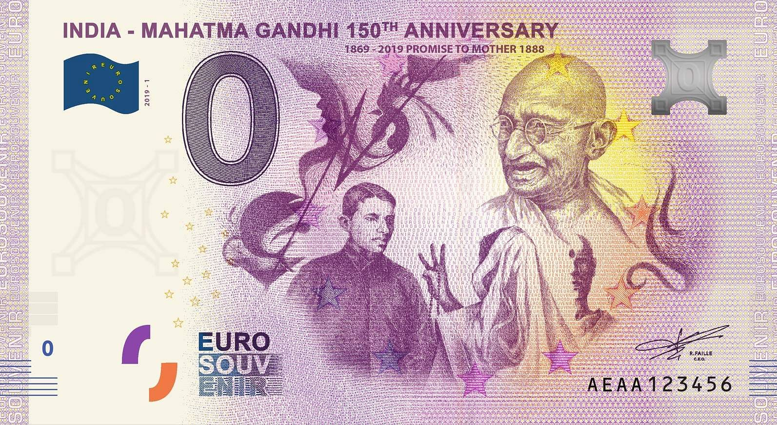 Gandhi Zero Euro 1 Promise to Mother 1888