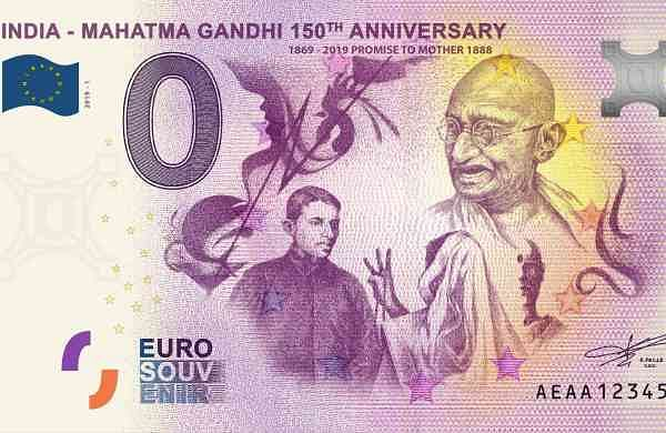 Gandhi Zero Euro 1 Promise to Mother 1888