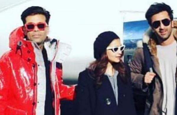 Karan Johar, Alia Bhatt and Ranbir Kapoor