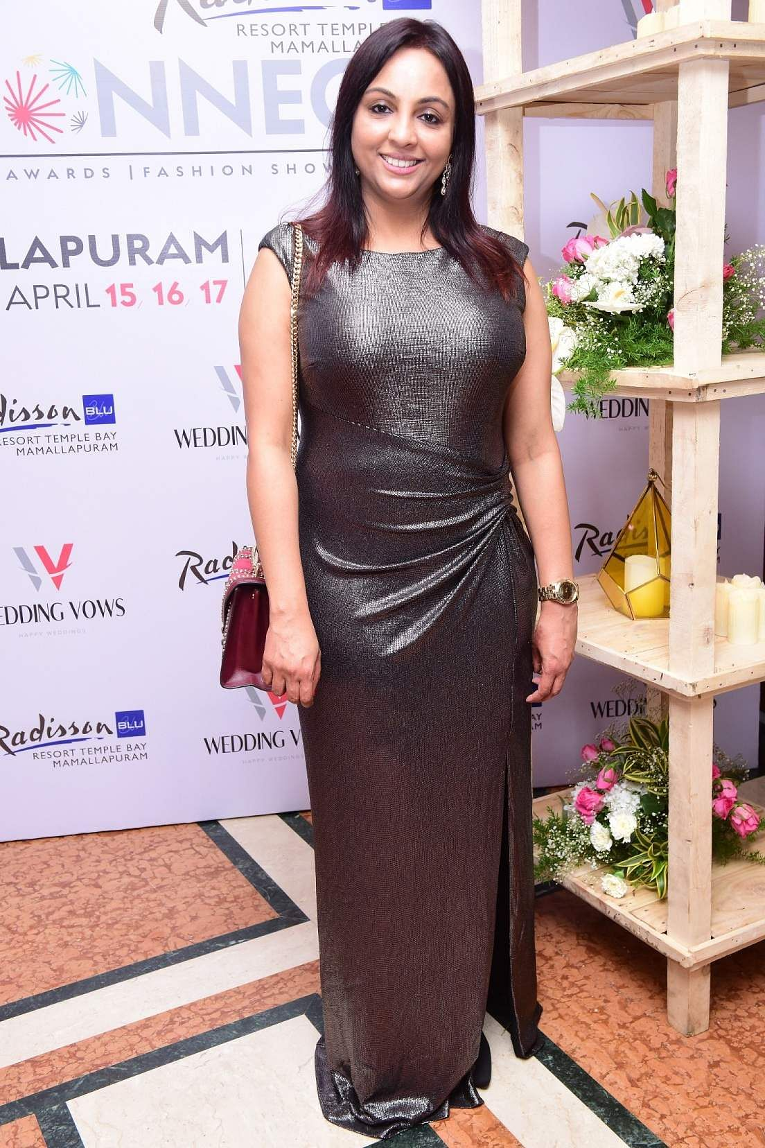 Anita at the launch event of Karthik Srinivasan's calendar, Entwined
