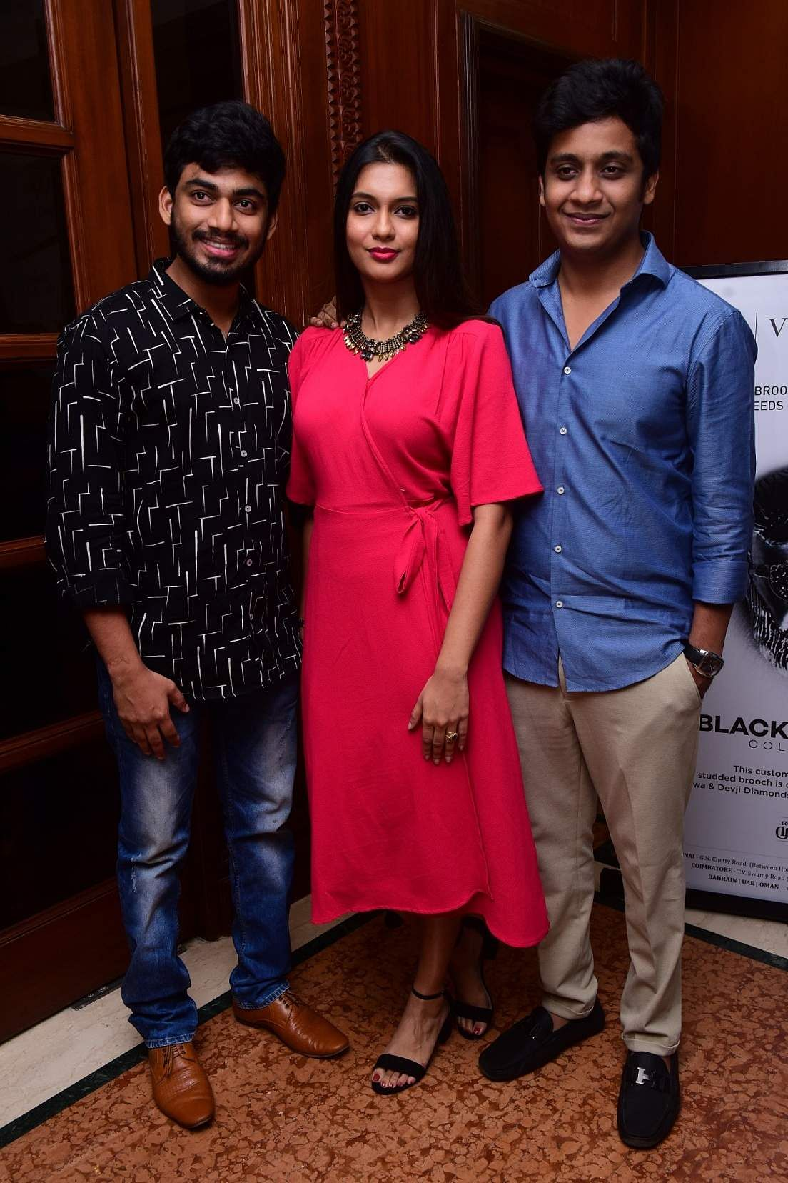 Gokul, Vaishali & Sathappa at the launch event of Karthik Srinivasan's calendar, Entwined